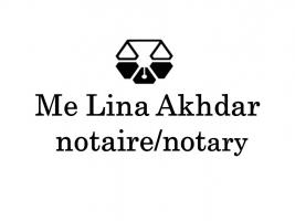Me Lina Akhdar, Notaire/Notary